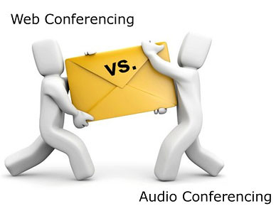 web conferencing or audio conferencing