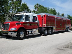 Brevard County Fire Rescue - Special Operations - Search and Rescue (FormerWMDriver) Tags: county door red rescue white tractor mobile truck fire big search post florida cab 4 beverage engine semi special equipment crew rig vehicle modified operations fl trailer custom emergency heavy 112 m2 department command brevard pumper usar freightliner