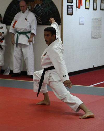 Mr David performs the Go Pei Sho kata