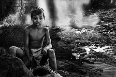 Children of Ulingan (Charcoal Factory), Manila - Rays of Hope,  Pic #10 (Mio Cade) Tags: boy portrait sun white black hot hope kid asia ray factory child labor smoke philippines documentary environmental social burn human charcoal rights manila trust labour strength coal pathetic mechanism coping tondo sunlihgt ulingan