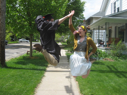 graduation high five!