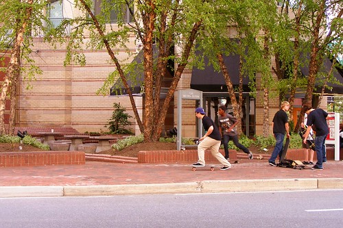 Skaters At Commerce & Old Georgetown, Bethesda