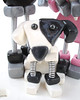 """Robots in Love"" Wedding Cake Topper - Polymer & Wire - Cute Doggie by HerArtSheLoves"