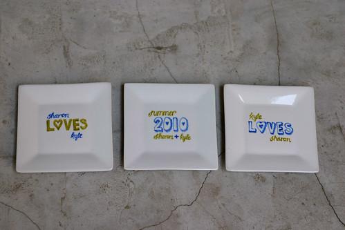 custom lettered plates