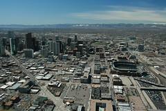 Denver Skyline (rockymtns99) Tags: rockies colorado flight denver aerial helicopter broncos broomfield rockymountainairport coloradoheliops