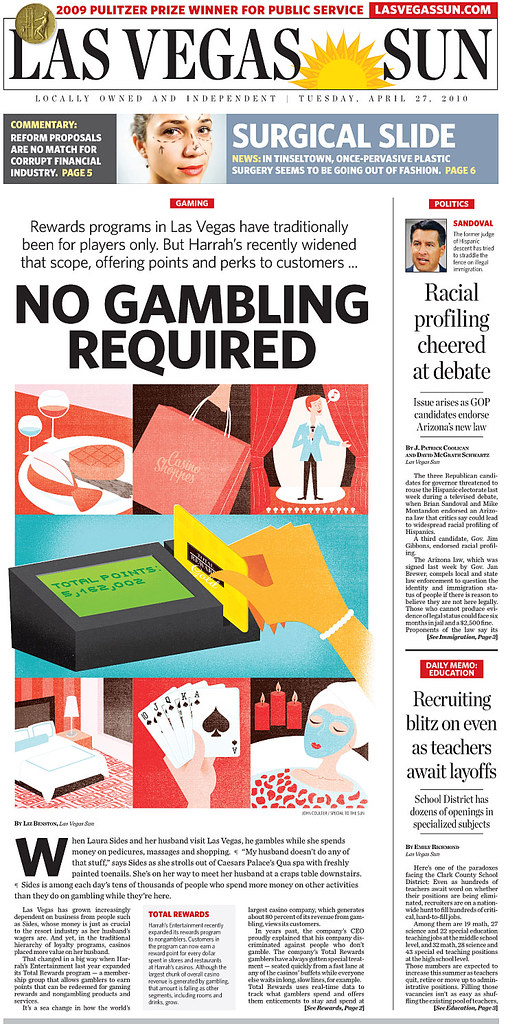 Las Vegas Sun: No Gambling Required layout