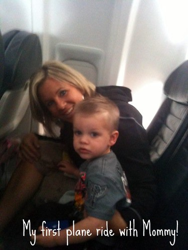 mommy and brennan plane