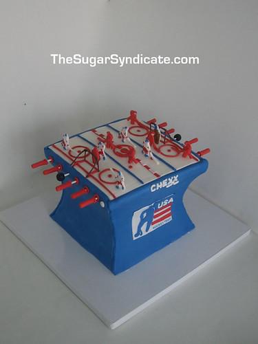 Chexx Hockey Game Cake