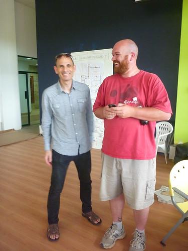 Robert Fabricant (Frog) & Erik Hersman @*IHub_ Nairobi