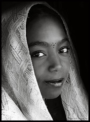 Kinda looks like a young Oprah ! (Bashar Shglila) Tags: portrait bw white black girl portraits eyes african young like looks and libya oprah kinda tuareg libyan ghadames    ghadamis   bestportraitsaoi  elitegalleryaoi