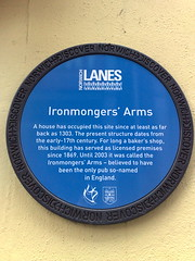 Photo of Ironmongers' Arms blue plaque