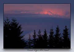 Good Night Mt. Hood (Sherrye's Art) Tags: trees sunset nature pine clouds oregon mthood pinetrees mthoodoregon sherryenozaki cloudsstormssunsetssunrises allmyimagesarecopyright©protectedandallrightsarereservednoformofreproductionormanipulationincludingcopyingorsavingasadigitalfileispermitted