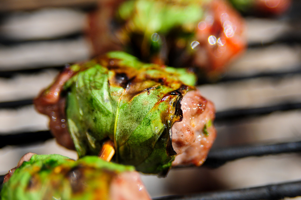 Thai Beef Rolls with Sweet Chili Sauce