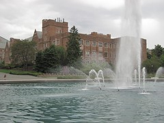U of W building with fountain