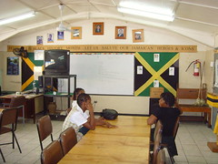 Jamaican class room (bbcworldservice) Tags: world school girls boys field athletics downtown track stadium assignment champs christopher coke lord kingston national bbc jamaica drug service athletes 2010 dudus