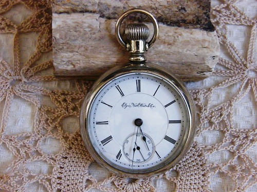 Vintage 1889 Elgin Pocket Watch