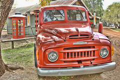 Truck by Topaz (pixbytk - Who knew 4 years would go so fast???) Tags: truck vintage phonebooth hdr gaspump fairbridge mtrtrophyshot