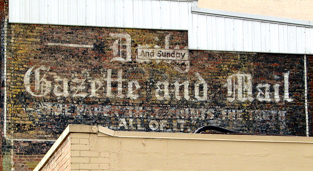 Architecture of Morristown: Newspaper Wall Ad