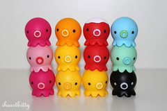 takochu {explored} (iheartkitty) Tags: cute japan japanese rainbow colorful plastic kawaii octopus stacking tako octopi takochu