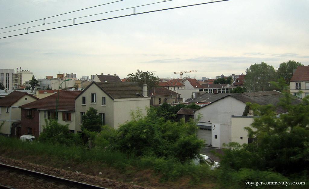 Paysage de banlieue parisienne