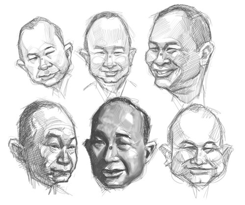 thumbnail sketches of John Woo