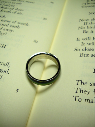 Ring, book, heart