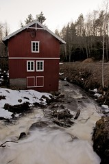 Red Mill 3 (Plern) Tags: winter house snow mill water creek waterfall pond stream farm redhouse redmill