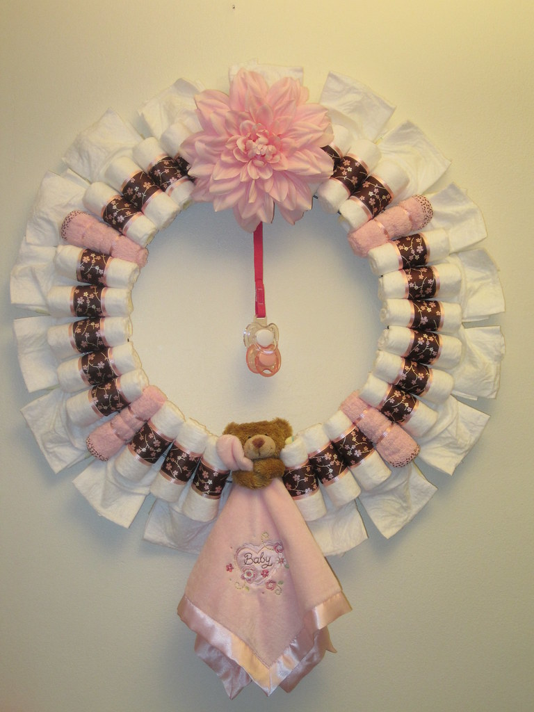 Sweet Pea Diaper Wreath