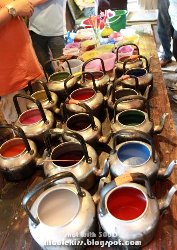 colorful wax