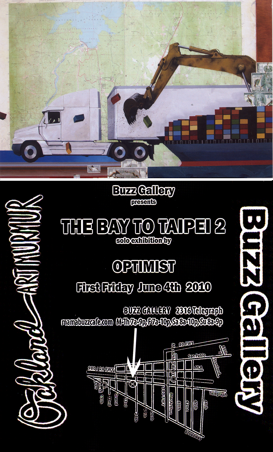 OPTIMIST, TIM ,DE, POP, Graffiti, Art Show, Oakland, Mama Buzz