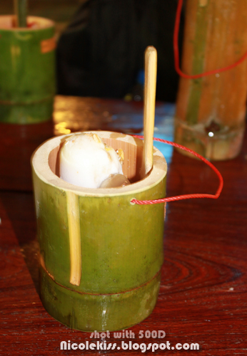 ice cream in bamboo