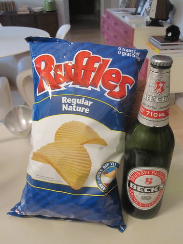 chips and beer - $7.27
