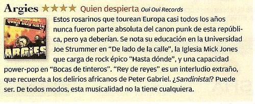 """Argies """"Quien Despierta"""" [Oui Oui Records]"""