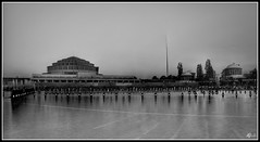 Fountain in Wroclaw (balck and white)