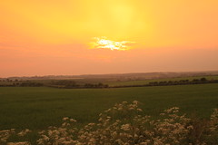 Lincolnshire Wolds (Steve Dawson.) Tags: uk sunset england sky orange canon landscape eos lincolnshire bbc bluestone wolds looknorth 50d heathroad canoneos50d