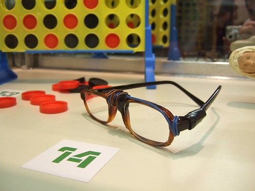 Sawyer's glasses and Hurley's Connect Four game