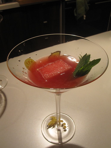 Watermelon cocktail at Caroline's