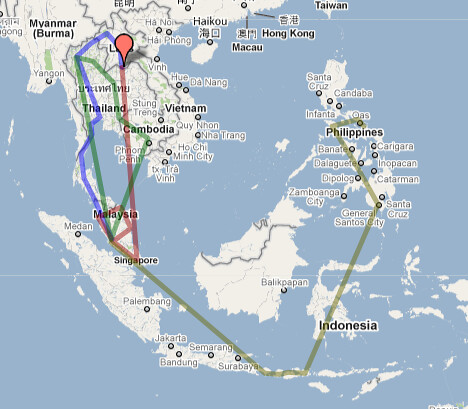 South East Asia crazy tour