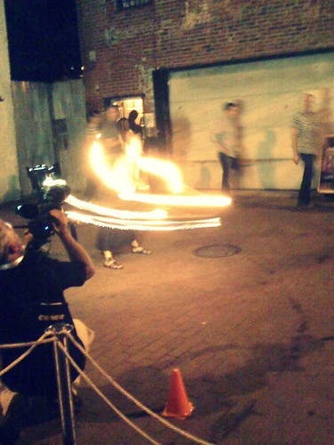 fire dancer at DCWEEK