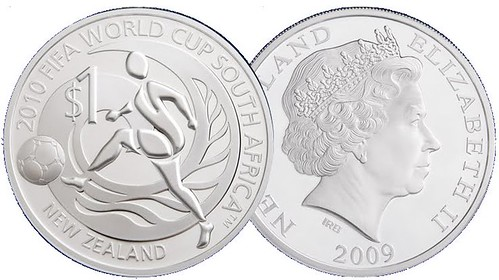 New Zealand 2010 FIFA World Cup Silver Proof Coin