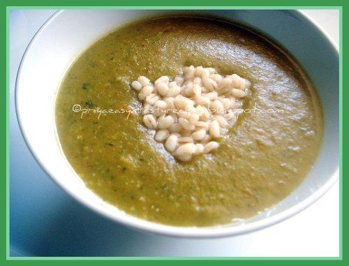 Carrot, Coriander & Barley Soup