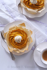Pumpkin cream strudel (StuderV) Tags: food cake pumpkin dessert nikon sweet cream spicy strudel foodphotography foodstyling d700 tabletopstyling