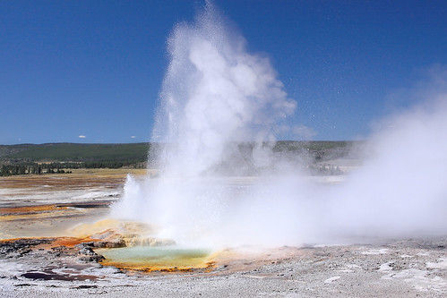 Clepsydra Geyser eruption