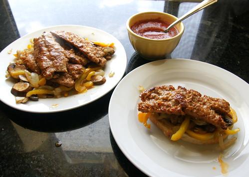 italian sausage sandwhich