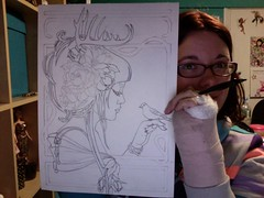 my club hand and new drawing (miss_skittlekitty) Tags: sketch photobooth drawing catcraig