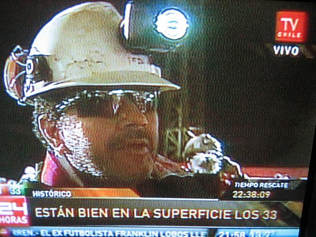 Foto rescate último minero Luis Urzúa