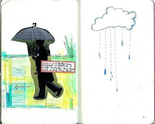 Lines of rain