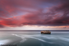 1288 (Sobre el mar) (Joserra Irusta) Tags: longexposure sunset sea costa seascape clouds marina landscape atardecer coast