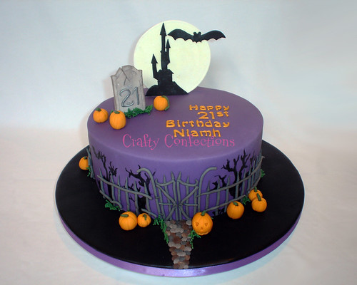 Halloween themed 21st cake