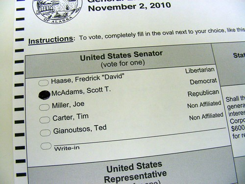 I voted for Scott McAdams.